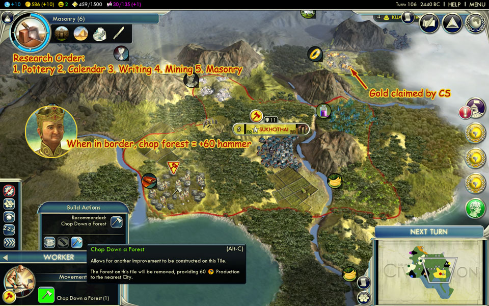 civ 5 how to play siam