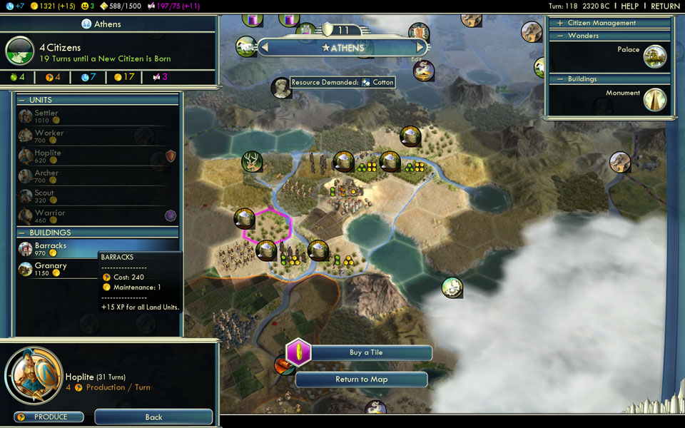 how to buy city states in civ 5